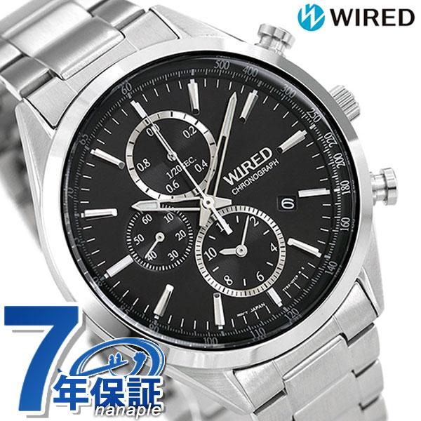 セイコー ワイアード SEIKO WIRED クロノグラフ メンズ 腕時計 AGAV109 ブラック 時計【あす楽対応】