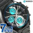 【クオカード付き♪】セイコー ワイアード ニューリフレクション クロノグラフ AGAV121 SEIKO WIRED 腕時計 オールブラック 時計