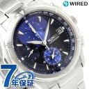 【クオカード付き♪】セイコー ワイアード ニュースタンダードモデル クロノグラフ AGBV141 SEIKO WIRED ブルー 腕時計 時計