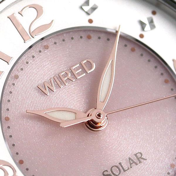 【15日なら全品5倍以上!店内ポイント最大47倍】 セイコー ワイアード エフ SEIKO WIRED f ソーラー レディース 腕時計 AGED085 ピンク×アイボリー