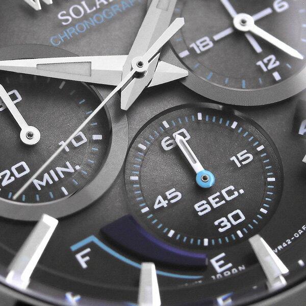 セイコー ワイアード トウキョウ ソラ ソーラー クロノグラフ AGAD095 SEIKO WIRED 腕時計 ブラック 時計【あす楽対応】