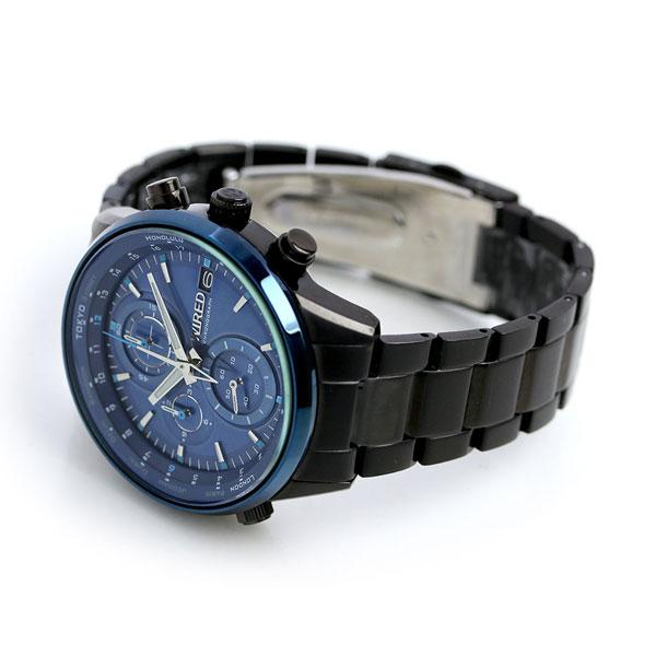 セイコー ワイアード トウキョウ ソラ クロノグラフ メンズ AGAW450 SEIKO WIRED 腕時計 ブルー×ブラック 時計【あす楽対応】