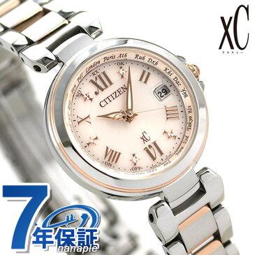 シチズン クロスシー CITIZEN xC エコドライブ 電波時計 レディース 腕時計 EC1034-59W 電波ソーラー ピンク【あす楽対応】