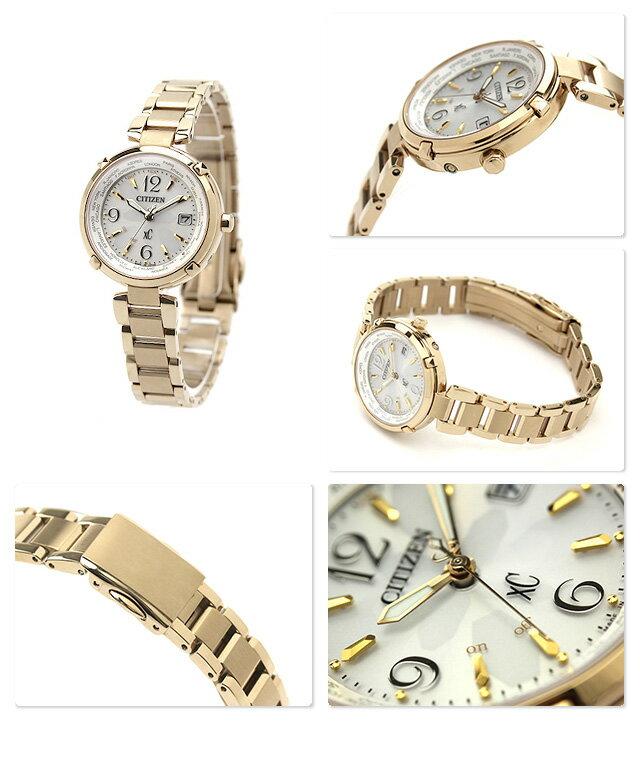 シチズン クロスシー エコドライブ 電波時計 ハッピーフライト シルバー×ゴールド CITIZEN xC EC1042-51Aイメージキャラクター 腕時計 チタン 時計