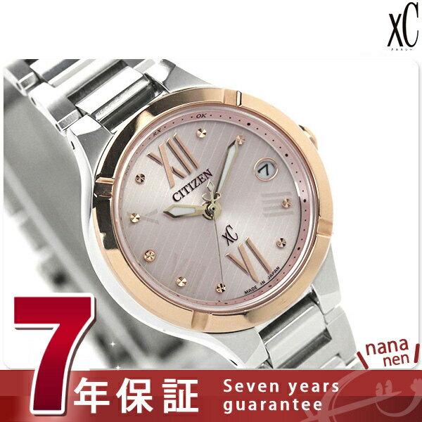 シチズン クロスシー エコドライブ 電波 ティタニア レディース ES8084-59W 腕時計 チタン ピンク 時計