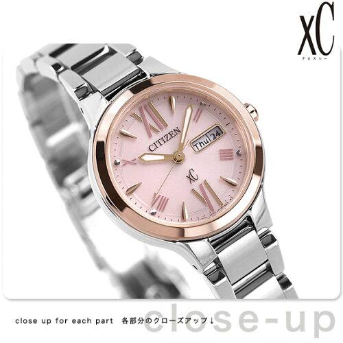 シチズン クロスシー エコドライブ レディース EW3224-53W 腕時計 北川景子 デイデイト ピンク