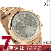 シチズンクロスシーエコドライブ腕時計クロノグラフシルバー×ピンクゴールドCITIZENxCFB1332-50A