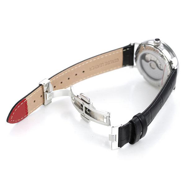 ヨンガー&ブレッソン 時計 フランス製 自動巻き メンズ 腕時計 YBH8568-02 Yonger&Bresson ホワイト×ブラック