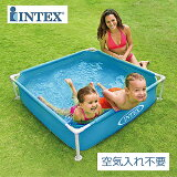 【INTEX インテックス】ミニフレームプール【ブルー 2020年モデル 122×122×30cm】