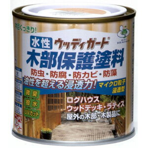 【ニッペホームプロダクツ】水性塗料 水性ウッディガード【木部用 0.2L オーク】