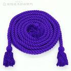 神輿飾り紐(小)アクリル製紫色長さ5,5mX太さ2,4cm