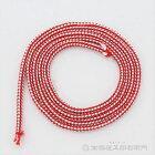 神輿用鈴紐紅白太さ6mmX長さ100cmX16本江戸打人絹製