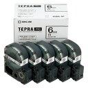 テプラPROテープ SS6K-5P エコパック白ラベル 5個入 1巻8m テプラカートリッジ キングジム 送料無料