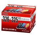 オーム電機キヤノンBC-326+325/5MP互換インクカートリッジ顔料ブラック+染料4色パックINK-C326+325-5PNAINKC3263255PNA