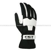 エフイーティースポーツ ライトウエイトグラブ レーシンググローブ ブラック ホワイト