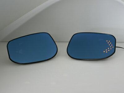 GARUDA/ガルーダ BLLEDミラー フィット・ハイブリッド/GP1 LEDウインカー内蔵ブルーワイドミラー ...