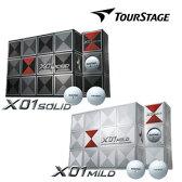 ブリヂストン TOURSTAGE X01-SOLID(ソリッド)・MILD(マイルド) ボール(12球) 【2011-2012年モデル】