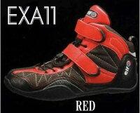 新製品!【ELF・エルフ】elfEXA-11(エクサ11)ライディングシューズレッド・ブラック・ホワイト/ブラック