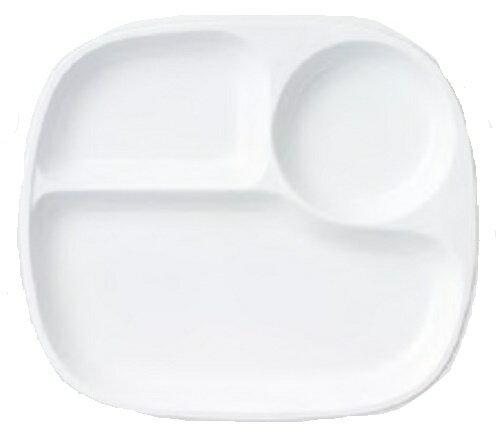 LUNCH PLATE/ランチプレート 3つ仕切りランチプレート27cm 縦23.8cm×横27.1cm×高さ2.7cm(食器/器/白い食器/ランチプレート/ 軽量強化磁器/日本製/ おしゃれ /仕切り皿/角皿/人気/売れ筋/カフェ風/café風/食洗器対応/電子レンジ対応)NANNA