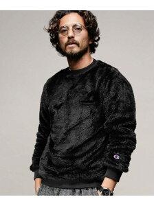 [Rakuten Fashion]【SALE/40%OFF】別注 CREW NECK Sherpa Fleece Champion ナノユニバース カットソー スウェット ブラック ベージュ ネイビー ホワイト【RBA_E】【送料無料】
