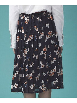 [Rakuten BRAND AVENUE]【SALE/10%OFF】フラワープリントプリーツスカート Grace & Mila ナノユニバース スカート【RBA_S】【RBA_E】【送料無料】
