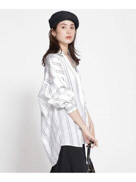 [Rakuten Fashion]【SALE/60%OFF】ストライプボリュームシャツ nano・universe ナノユニバース シャツ/ブラウス シャツ/ブラウスその他 グレー ブルー【RBA_E】