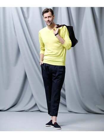 [Rakuten Fashion]【SALE/70%OFF】//シルクカシミヤVネックニット nano LIBRARY ナノユニバース ニット ニットその他 ホワイト イエロー ネイビー【RBA_E】【送料無料】