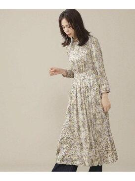 [Rakuten Fashion]【SALE/70%OFF】モザイクフラワータックワンピース nano・universe ナノユニバース ワンピース ワンピースその他 ホワイト ブラウン【RBA_E】