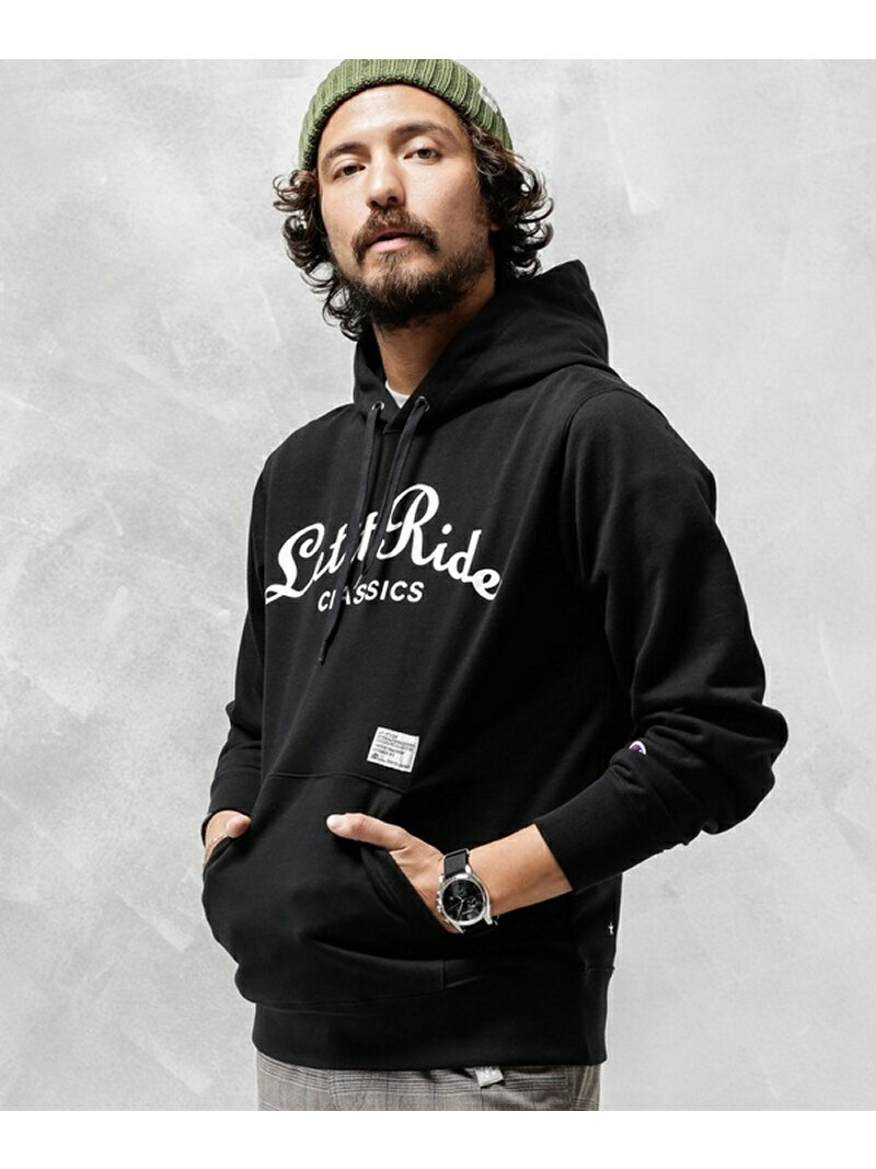 [Rakuten BRAND AVENUE]別注LET IT RIDE PULLOVER PARKA Champion ナノユニバース カットソー【RBA_S】