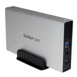 StarTech.com 外付け3.5インチHDDケース シルバー USB3.0接続SATA 3.0対応(S3510SMU33) 目安在庫=○