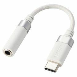 【P5E】エレコム Type-C-4極φ3.5mmステレオミニプラグ変換ケーブル 高耐久 ホワイト(AD-C35SDWH) メーカー在庫品
