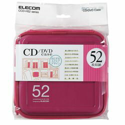 エレコム CD/DVDケース/セミハード/ファスナー付/52枚入/ピンク CCD-H52PN メーカー在庫品