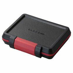 エレコム メモリカードケース/ハード/XQD2枚+SD4枚+microSD4枚収納/ブラック(CMC-SDCHD02BK) メーカー在庫品