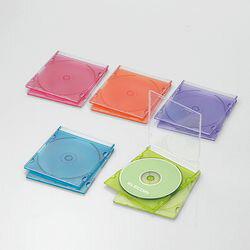 エレコム CD/DVDスリムプラケース/1枚収納/10パック/アソート CCD-JSCS10ASO メーカー在庫品