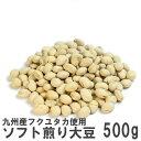 国産ソフト煎り大豆500g 南風堂 徳用用大袋 九州産大豆をカリッとロースト 大豆の栄養そのままおやつ