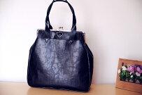 【大容量】【A4サイズ対応】トートバッグ&ショルダーバッグ&がま口リュック3wayバッグ【nanqueen'shandmade】自社生産品◆