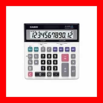 《カシオ計算機》 特大表示電卓デスクタイプ DS-120TW 12桁