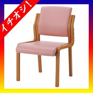 期間限定★イチオシ家具ジョインテックス■会議イスWF-C5Lピンク肘無木製