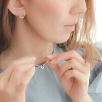 naotjewelry Bubble Circle Pierce レディース ピアス ゴールド シルバー ジルコニア イヤリング 痛くない 華奢 シンプル
