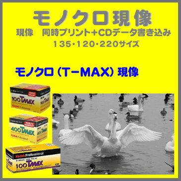 モノクロ(T−MAX)フィルム モノクロ(T−MAX)現像 同時プリント+CDデータ書き込み  Kodak T-MAX 100  T-MAX 400 T-MAX P3200  135 120  1本から受付