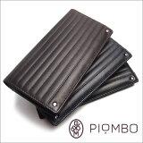 PIOMBO(ピオンボ)スワロフスキー付き二つ折り長財布メンズ財布,本革財布,レザー財布,スワロフスキー,ビジネス財布,送料無料!