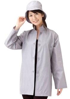 Silk standing collar short coat hat set / rainwear