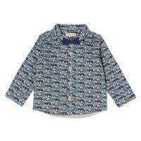 センスオブワンダー/ネクタイつきリバティ柄シャツ