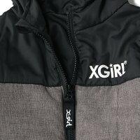 エックスガールステージス(X-girlStages)中綿入り切り替えジャンプスーツ