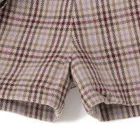 プティマイン(petitmain)プリーツラップ風キュロットスカート