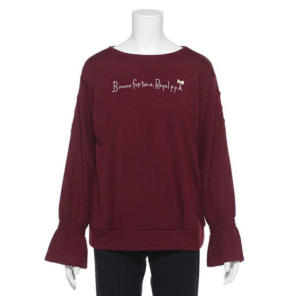 ポンポネットジュニア(pom ponette junior)ボートネックベルスリーブTシャツ