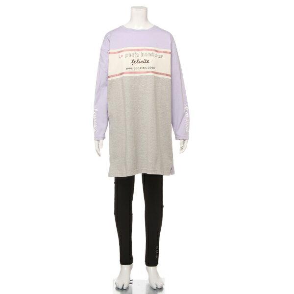 ポンポネットジュニア(pom ponette junior)切り替えTシャツ&レギンスセット