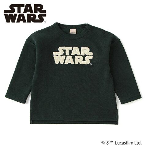 プティマイン(petit main)【S200904】【STAR WARS】 裏起毛 サガラワッペンTシャツ