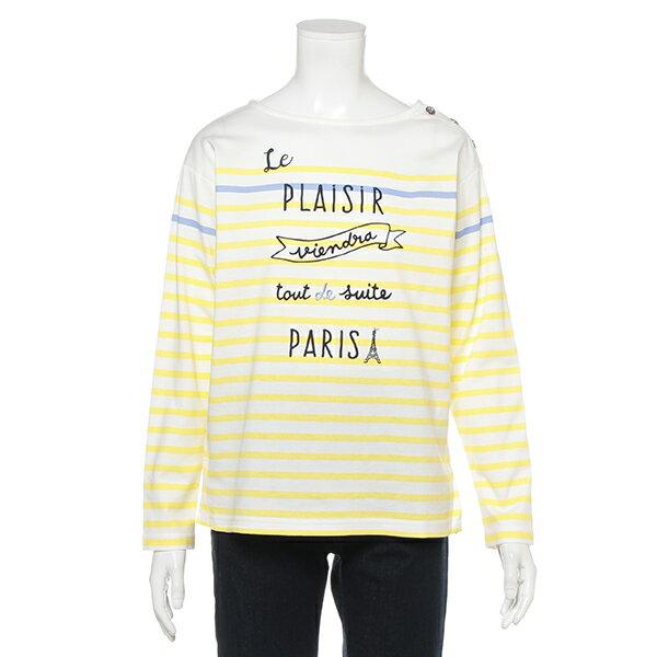 ポンポネットジュニア(pom ponette junior)パネルボーダーTシャツ