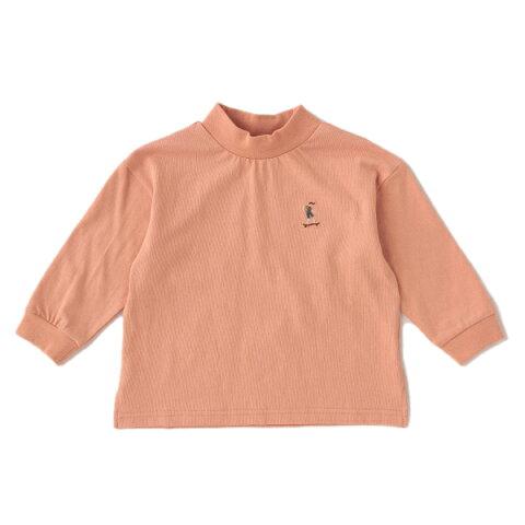 プティマイン(petit main)スケーター刺しゅうボトルネックTシャツ